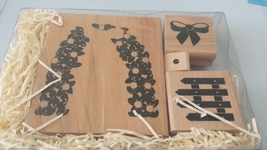 CTMH Close To My Heart Secret Garden Trellis Stamp set of 4 wood-mounted stamps - $4.99