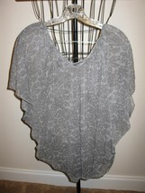 Grey Floral Top with Dolman Sleeves by George Size XL Nice! #X249 - $10.99