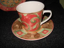 PTS Interiors International Stoneware China Catalina Cup and Saucer - $3.75