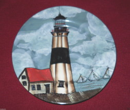 SAKURA BY THE SEA SALAD PLATE HANDPAINTED DESIGN B - $6.88