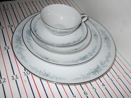 NORITAKE ROSEBERRY  5 PIECE PLACE SETTING EX CONDITION - $23.71
