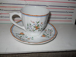 GIEN AU SAINFOIN CUP AND 3 SAUCERS - $24.70