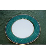 FITZ & FLOYD CHAUMONT TEAL GREEN BREAD PLATE - $7.91