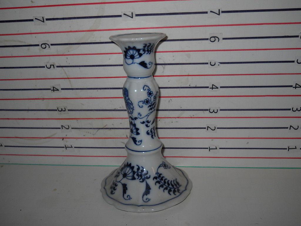 """BLUE DANUBE CANDLESTICK 6  1/2"""" - $9.85"""