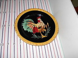 TABLETOPS BLACK ROOSTER SALAD PLATE - $8.86