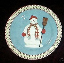 SAKURA SNOWMAN  SALAD  PLATE #2 - $3.96