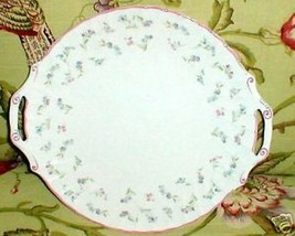 ROYAL WORCESTER FORGET ME NOT TAB HANDLED CAKE PLATE - $19.55