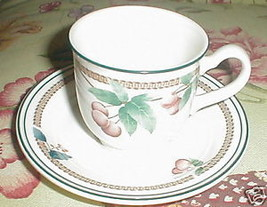 NORITAKE NATURE'S BOUNTY CUP AND SAUCER SET - $4.95