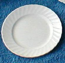 ROYAL ADDERLEY WHITE FIFE SWIRL BREAD  PLATE - $4.50