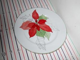 Block Poinsettia Salad  Plate    Ex Condition - $9.85