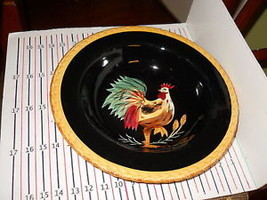 Tabletops Black Rooster Pasta Serving Bowl - $18.76