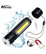 Albinaly® USB Rechargeable LED Flashlight Bicycle Light Side Light Design - $14.40+