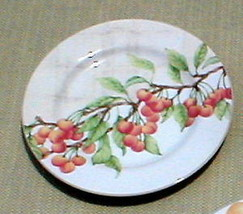BLOCK CHINA MANSFIELD GROVE CHERRIES DINNER PLATE - $11.77