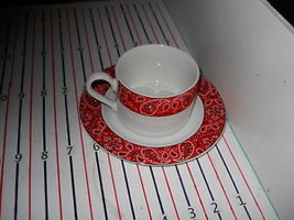 FITZ & FLOYD OMNIBUS BANDANA CUP AND SAUCER - $4.41