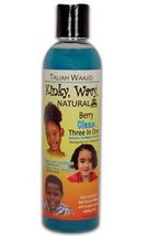 TALIAH WAAJID Kinky, Wavy, Natural Berry Clean Three In One, 8oz - $12.04