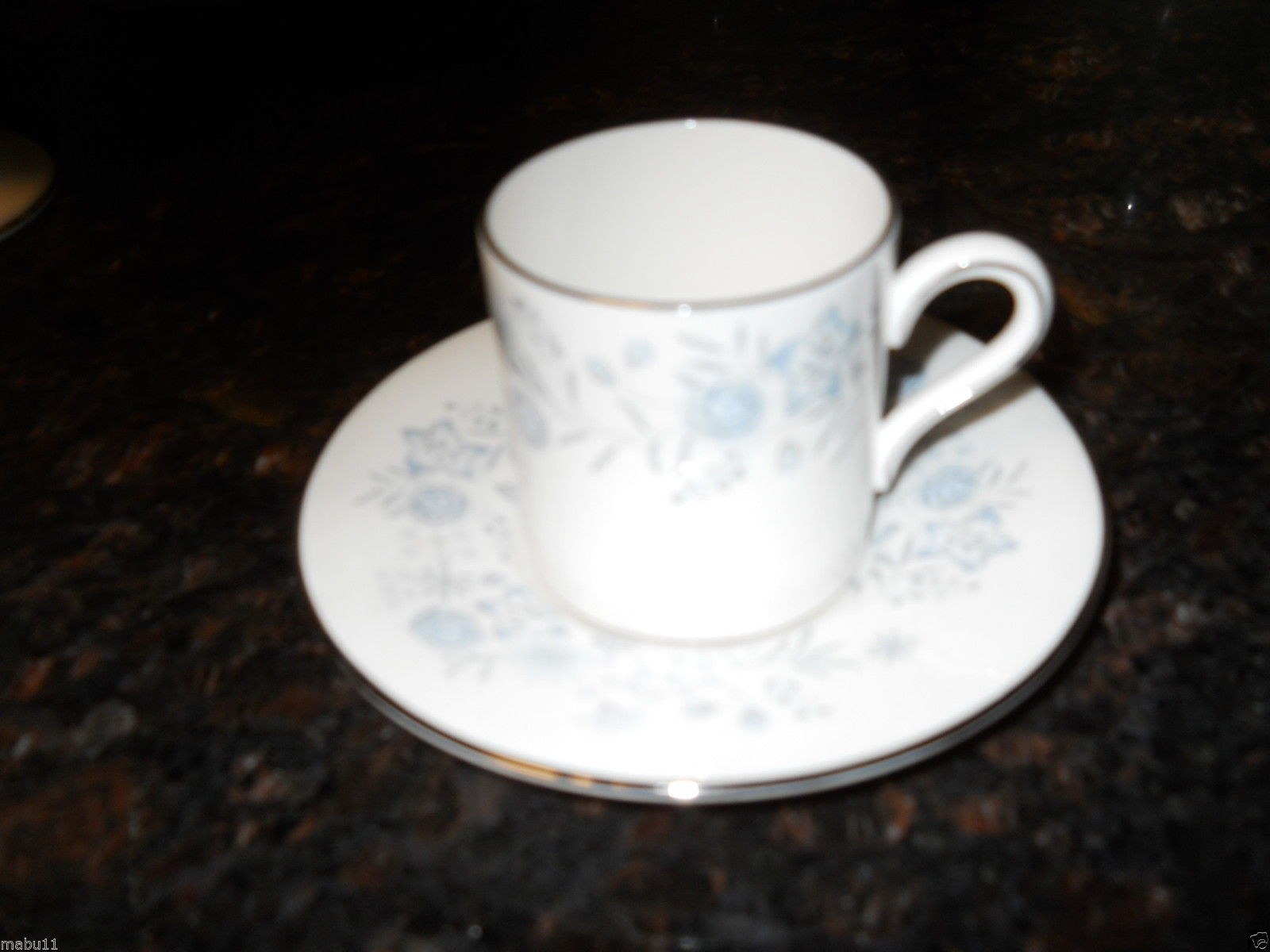 WEDGWOOD BELLE FLEUR DEMITASSE CUP AND SAUCER