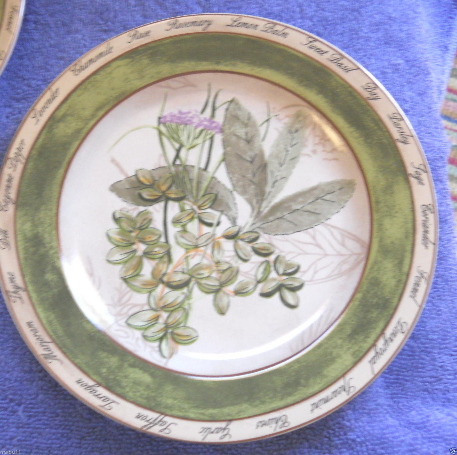 American Atlier Bouquet Garni salad plate mint basil - $3.91