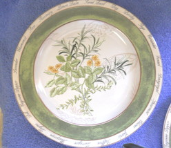 American Atlier Bouquet Garni salad plate rosemary yellow flower - $3.91