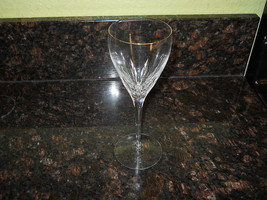 LENOX CRYSTAL FIRELIGHT GOLD WATER  GOBLET - $18.76
