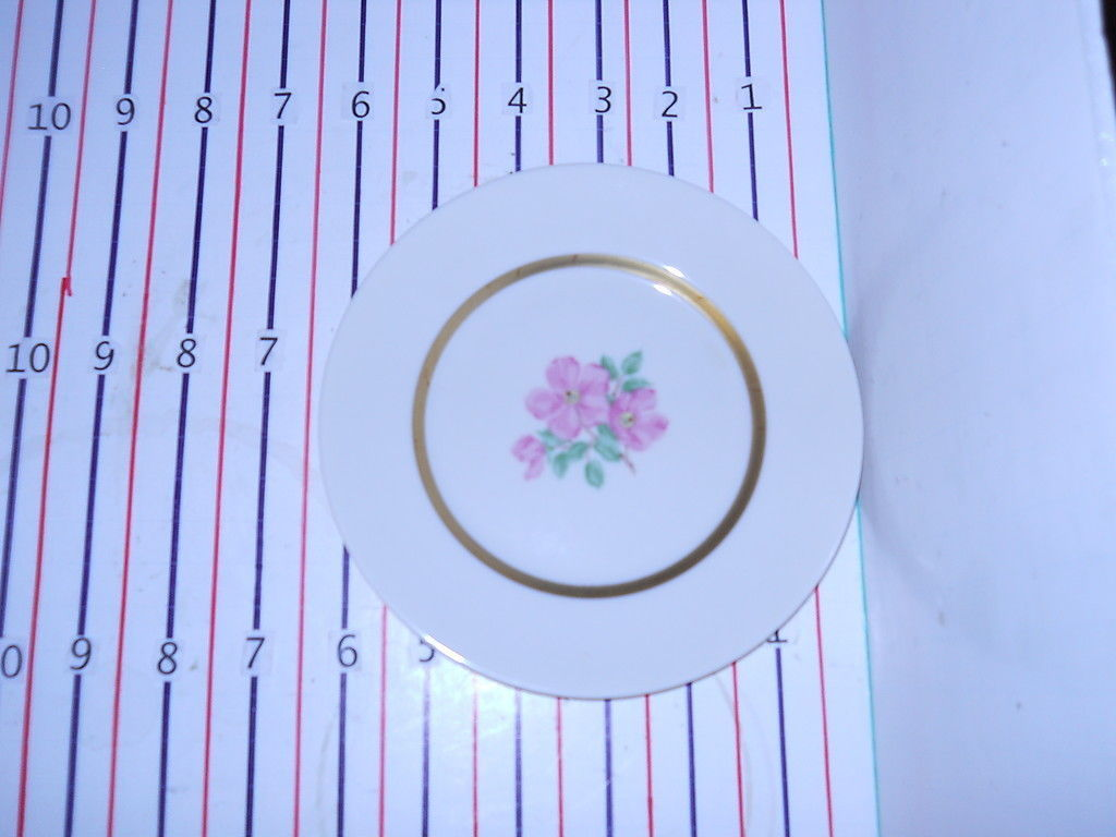 FRANCISCAN CHEROKEE ROSE WIDE BAND BREAD  PLATE