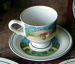 SANGO COUNTRY COTTAGE CUP AND SAUCER - $3.81