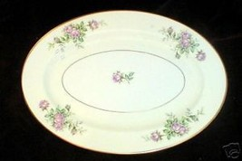 "ROYAL CATHAY CLASSIC ROSE OVAL SERVING PLATTER 13 1/2"" - $16.83"