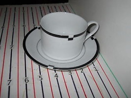 MIKASA MIDNIGHT CUP AND SAUCER - $6.88