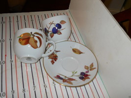 ROYAL WORCESTER EVESHAM CUP AND SAUCER SET - $6.88