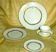 ROYAL WORCESTER GOLDEN BRACKEN CUP AND SAUCER SET - $5.93