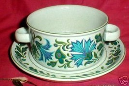 MIDWINTER CAPRICE CREAM SOUP CUP AND SAUCER - $13.86