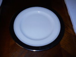 MINTON WILMINGTON  BLACK BAND BREAD  PLATE - $11.83