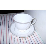 WEDGWOOD QUEENS LACE CUP AND SAUCER - $24.70
