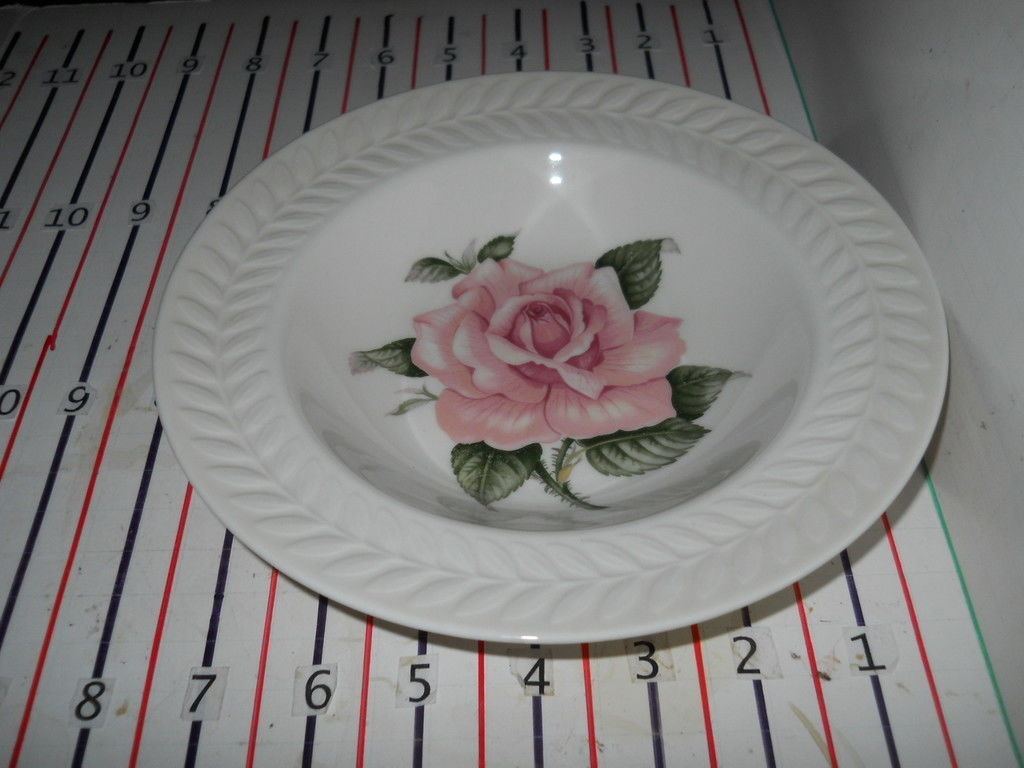Primary image for THEODORE HAVILAND REGENTS PARK ROSE RIMMED SOUP BOWL