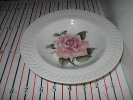 THEODORE HAVILAND REGENTS PARK ROSE RIMMED SOUP BOWL - $17.81
