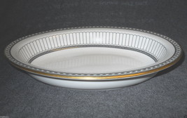"WEDGWOOD COLONNADE BLACK 10"" RIMMED OVAL SERVING BOWL - $83.15"