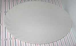 "LENOX SCULPTURE OFF WHITE 16"" OVAL SERVING PLATTER - $89.09"