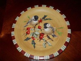 LENOX WINTER GREETINGS CHICKADEE SALAD PLATE - $13.81