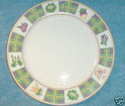 STUDIO NOVA SPRING PATCHWORK ROUND PLATTER CHOP PLATE - $8.91
