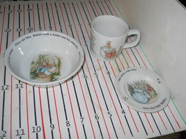 WEDGWOOD PETER RABBIT 3 PIECE SET - $16.78