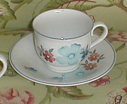 Noritake Glimmer Cup And Saucer Set - $3.85
