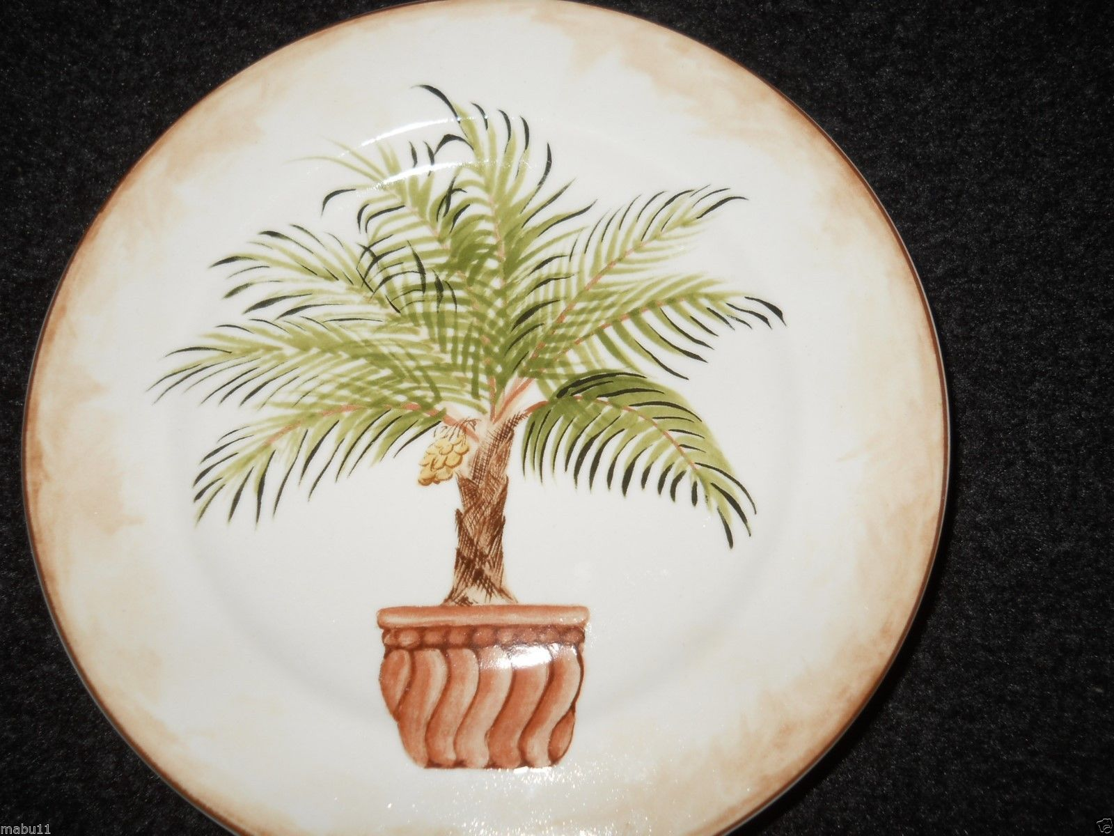 """American Atelier China Tropical Palm 8 1/4"""" Salad Plate Motif C - $5.89"""
