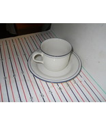 LENOX BLUE PINSTRIPES CUP AND SAUCER - $4.90