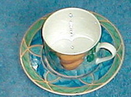 VICTORIA BEALE FORBIDDEN FRUIT CUP AND SAUCER - $3.95