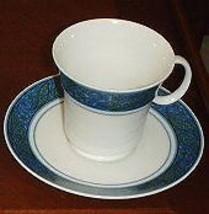 Noritake Larkspur Cup And Saucer Set - $6.92