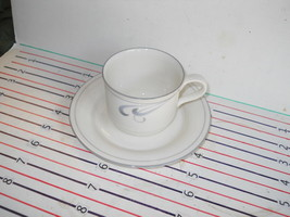 LENOX GREY BRUSHSTROKES CUP AND SAUCER - $4.90
