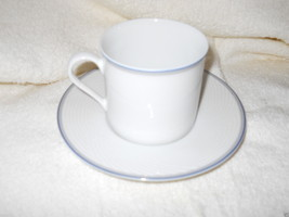 Dansk Tapestries Damask Blue Cup And Saucer Set - $5.93