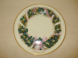 Lenox 1991 Colonial Christmas Wreath Plate South Carolina Camellia 11th ... - $12.95