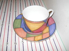 VICTORIA BEALE PRISM CUP AND SAUCER - $5.89