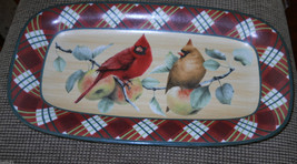 "Lenox Winter Greetings Tartan serving platter 14 1/2"" free shipping - $69.25"