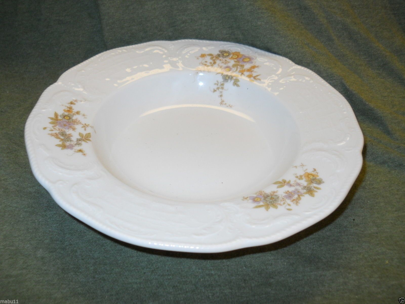 Primary image for ROSENTHAL CLASSIC ROSE FORTUNE RIMMED SOUP BOWL